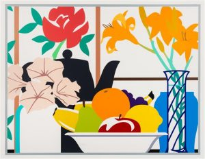 Tom Wesselmann Screen Print, Still Life with Petunias, Lilies and Fruit, 1988