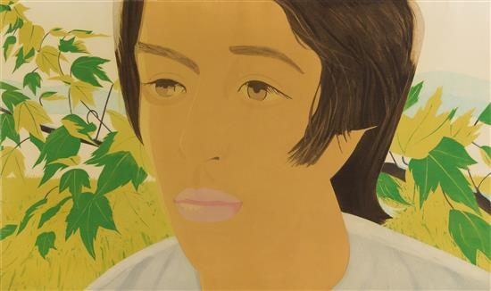 Alex Katz Aquatint, Boy with Branch I, 1975