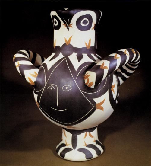 Large Bird, Black Face, 1951