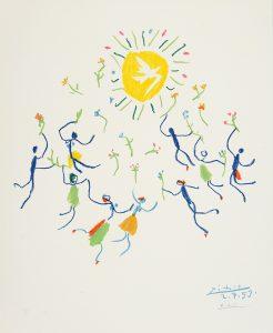 Pablo Picasso Lithograph, Ronde au Soleil (Sun Circle), 1959