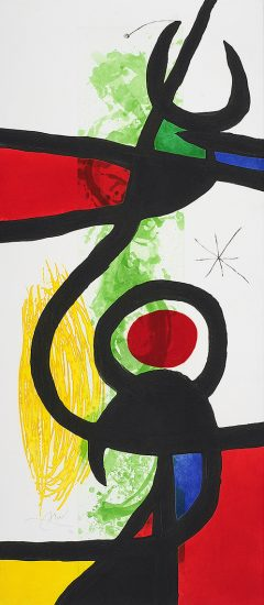 Joan Miró Etching, Les Grandes Manœuvres (The Great Maneuvers), 1973
