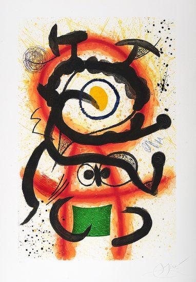 Joan Miró Etching, Mambo, 1978