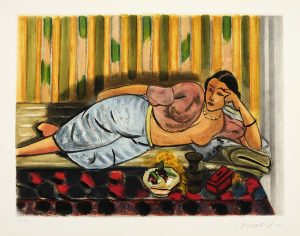 Henri Matisse Aquatint, Odalisque au coffret rouge (Odalisque with Red Box) , 1952