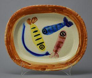 Pablo Picasso Ceramic, Quatre Poissons Polychromes (Four Polychrome Fishes), 1947
