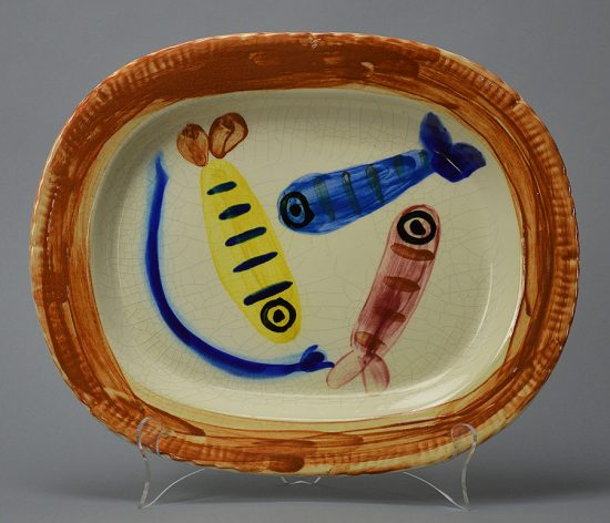 Pablo Picasso Ceramic, Quatre Poissons Polychromes (Four Polychrome Fishes), 1947