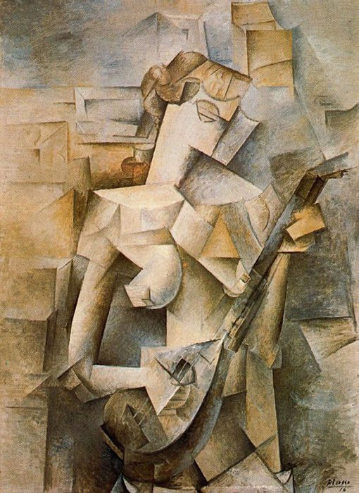 Pablo Picasso, Girl With Mandonlin, 1910
