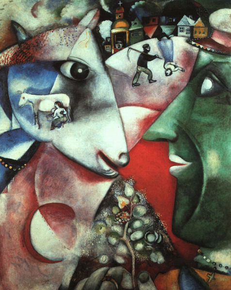 Marc Chagall's I and the Village, 1911