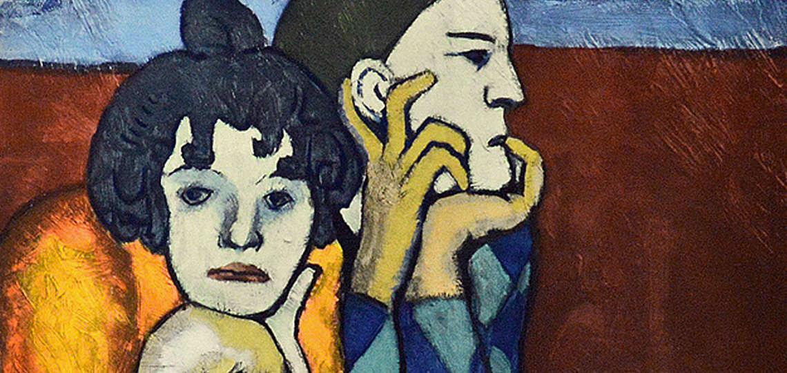 Pablo Picasso's Blue Period, Les Deux Saltimbanques