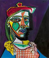original Pablo Picasso Femme au béret et à la robe quadrillée (Marie-Thérèse Walter), 1937