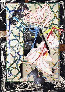 Frank Stella, The Counterpane, 1989, The Waves Series, 1989