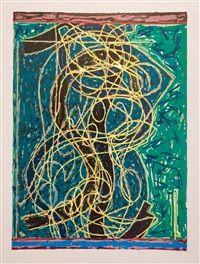 Frank Stella, Imola Five II, State I, Circuits Series 1982-1984