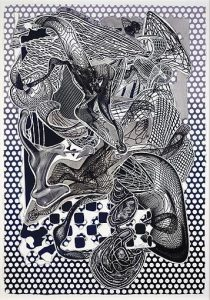 Frank Stella, Riallaro (Black and White), Imaginary Places 1994-1999