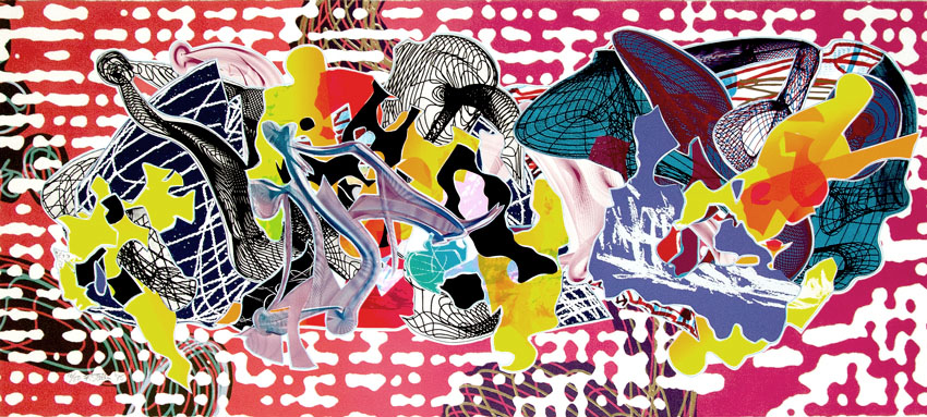 Frank Stella Relief, Screenprint Libertina from Imaginary Places, 1995 for sale