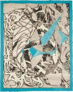 Frank Stella Swan Engraving Blue, 1983 from the Swan Engravings Series