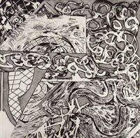 Frank Stella Swan Engraving VII, 1982 from the Swan Engravings Series