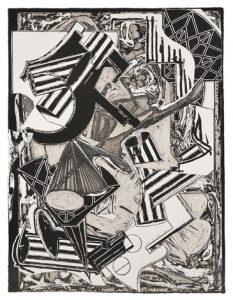 Frank Stella La penna di hu (black and white), 1988 from the Italian Folktales Series, 1988-1989