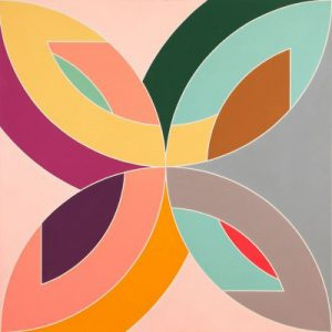 Frank Stella Flin Flon VI, 1970, acrylic on canvas painting the forms of which inspired the Polar Co-ordinates series prints
