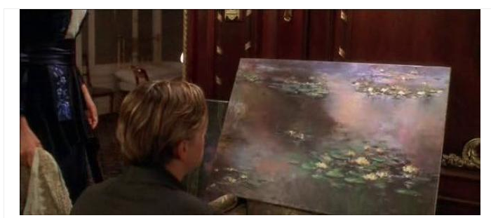 Claude Monet water lilies in the movie Titanic