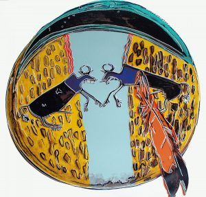 Andy Warhol, Plains Indian Shield,1986, Screenprint on Lenox Museum Board (F&S.II.382)