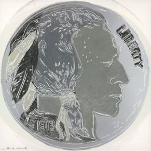 Andy Warhol, Indian Head Nickel, 1986, Screenprint on Lenox Museum Board (F&S.II.385)