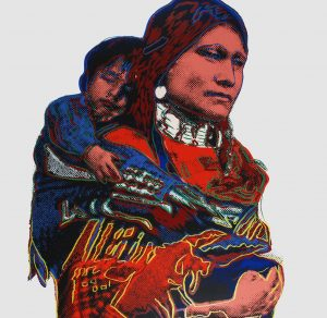 Andy Warhol, Mother and Child,1986, Screenprint on Lenox Museum Board (F&S.II.383)