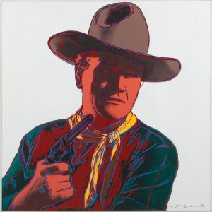 Andy Warhol, John Wayne,1986, Screenprint on Lenox Museum Board (F&S.II.377)
