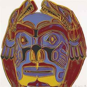 Andy Warhol, Northwest Coast Mask,1986, Screenprint on Lenox Museum Board (F&S.II.380)