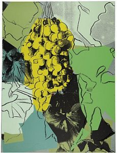 Andy Warhol,Grapes, 1979 Screenprint on Strathmore Bristol paper(F&S.II.191)