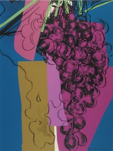 Andy Warhol,Grapes, 1979 Screenprint on Strathmore Bristol paper(F&S.II.192)