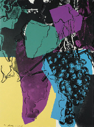 Andy Warhol,Grapes, 1979 Screenprint on Strathmore Bristol paper(F&S.II.193)