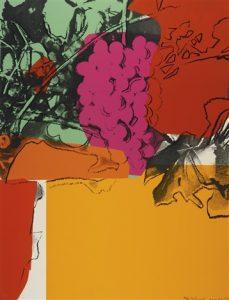 Andy Warhol,Grapes, 1979 Screenprint on Strathmore Bristol paper(F&S.II.190)