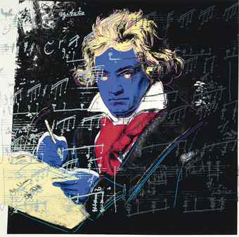 Andy Warhol,Beethoven, 1987, Screenprint on Lenox Museum Board (F&S.II.390)