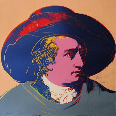 Andy Warhol, Goethe, 1982, Screenprint on Lenox Museum Board (F&S.II.273)