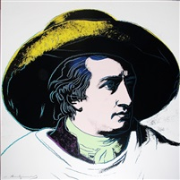 Andy Warhol, Goethe, 1982, Screenprint on Lenox Museum Board (F&S.II.272)