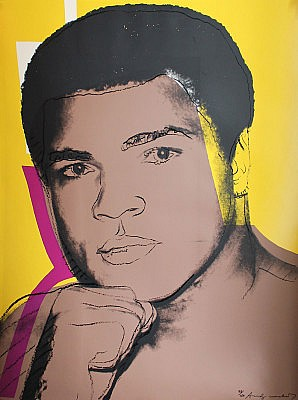 Andy Warhol, Muhammad Ali 1978, Screenprint on Strathmore Bristole Paper, (F&S. II. 182)