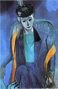 Henri MatissePortrait of Mme. Matisse, 1913