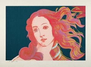 Andy Warhol, Details of Renaissance Paintings (Sandro Botticelli, Birth of Venus, 1482),1984 Screenprint on Arches Aquarelle (Cold Pressed) Paper, (F&S.II.316)