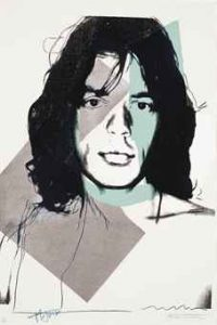 Andy Warhol, Mick Jagger, Screenprint on Arches Aquarelle Paper (F&S. II. 138)