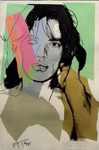 Andy Warhol, Mick Jagger, Screenprint on Arches Aquarelle Paper (F&S. II. 140)