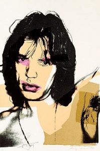 Andy Warhol, Mick Jagger, Screenprint on Arches Aquarelle Paper (F&S. II. 141)