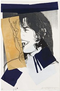 Andy Warhol, Mick Jagger, Screenprint on Arches Aquarelle Paper (F&S. II. 142)