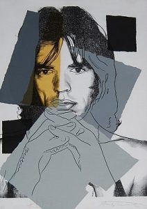 Andy Warhol, Mick Jagger, Screenprint on Arches Aquarelle Paper (F&S. II. 147)