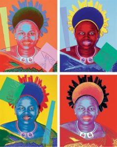Andy Warhol, Ntombi Twala of Swaziland, Screenprint on Lenox Museum Board, (F. & S.346-349)