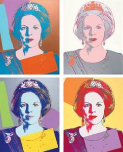 Andy Warhol, Queen Beatrix of the Netherlands, Screenprint on Lenox Museum Board, (F. & S.338-341)