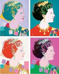Andy Warhol, Queen Magrethe II of Denmark, Screenprint on Lenox Museum Board, (F. & S.342-345)