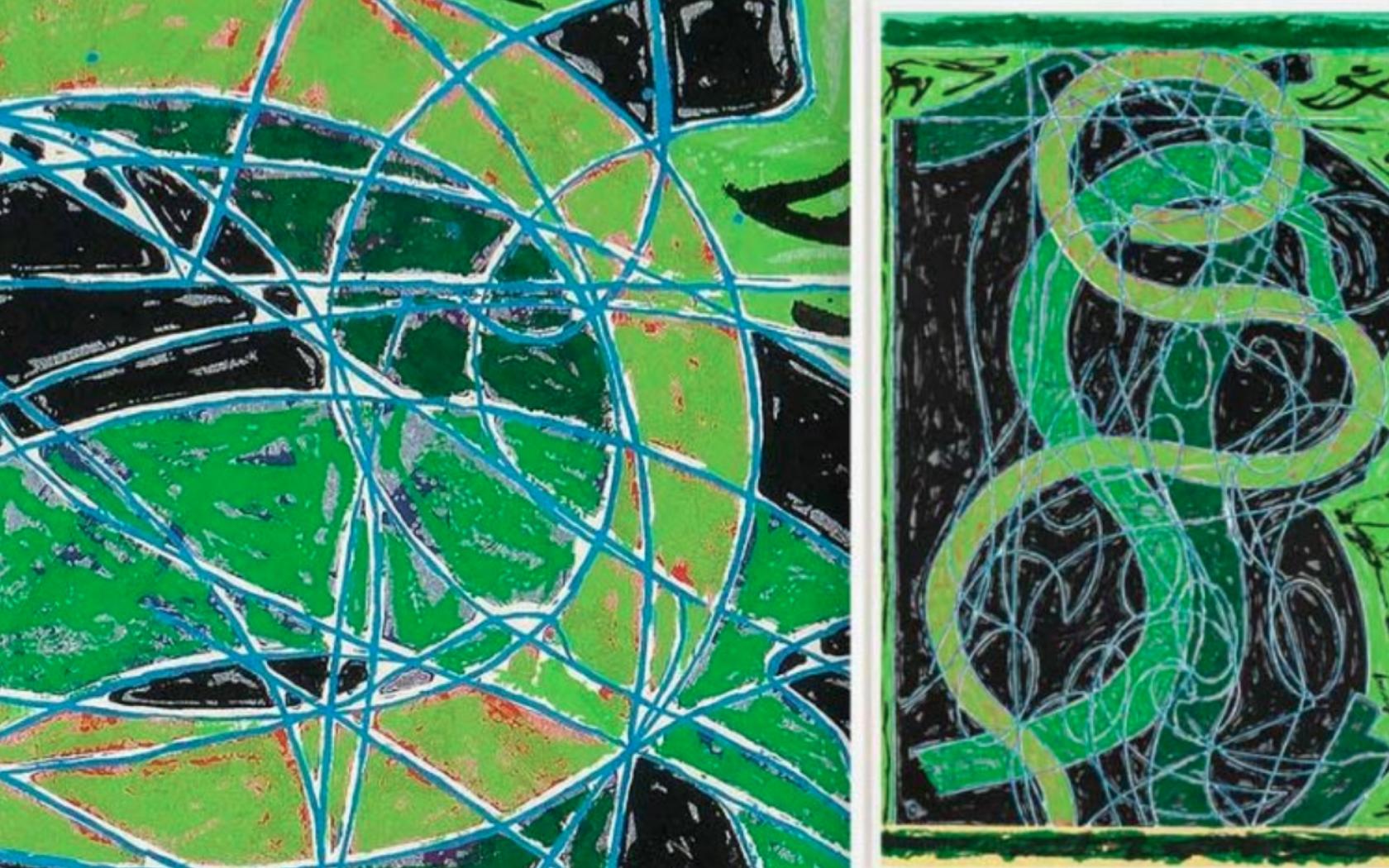 Frank Stella Woodcut, Imola Five