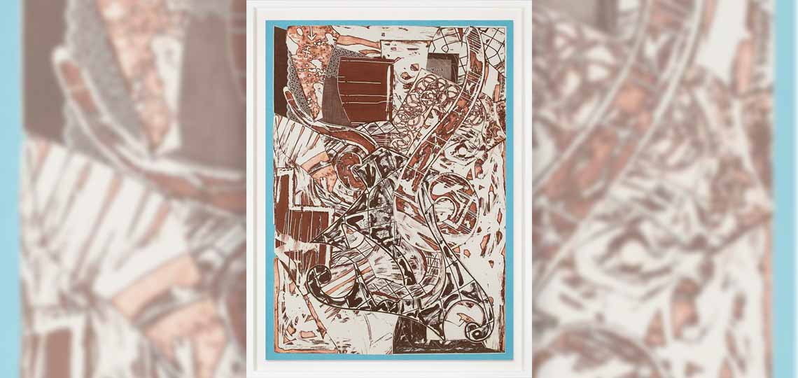 Frank Stella, Swan Engraving Framed II, 1984