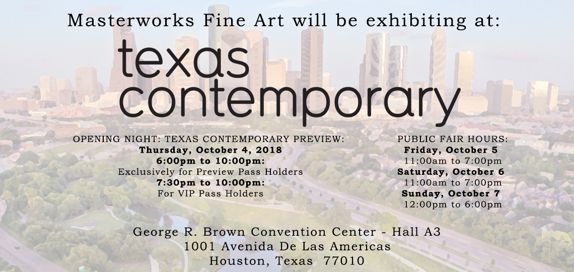 Texas Contemporary Art Fair in Houston October 4th-7th, 2018