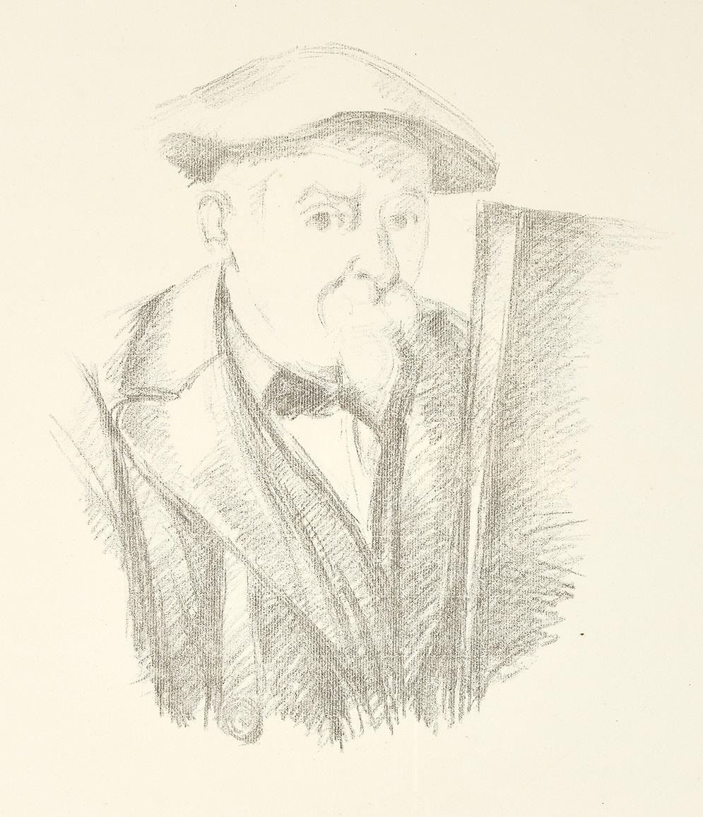 Paul Cézanne lithograph, Portrait de Cézanne par lui-même