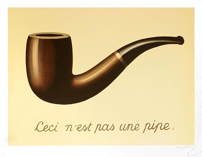 This Is Not a Pipe, by René Magritte
